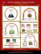 Stylish Fashion Purse and Handbag Hardware - Bamboo and Ranttan Handles