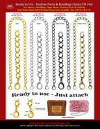 Handbag Chain: Metal Strap: Gold, Antique Brass, Nickel and Black Nickel Chains.