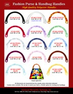 Plastic Handles: Big Size Plastic Handles with Round Holes For Purse Straps.