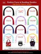 Plastic Handles: One Straight Purse Strap Hole Plastic Handles.