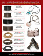 Genuine Leather Cords and Leather Suede For Purse Craft Making
