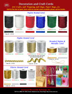 Nylon and Elastic Cords for Purse Crafts