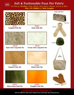 Fabric Catalog - Faux Fur Fabrics For Faux Fur Fabric Purses, Handbags, Totes and Hand Bags Sewing Catalogs