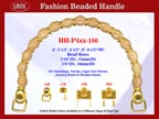 Beaded Purse Handles HH-p4xx-186 For Fabric Purses