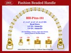 Beaded Purse Handles HH-p4xx-191 For Wedding Purse