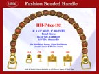 Beaded Purse Handles HH-p4xx-192 For Lady Purses