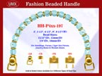 Designer Handbag Handles HH-p4xx-197 For Beaded Designer Handbags