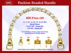Designer Handbag Handle HH-p4xx-199 For Beaded Designer Handbags