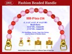 Beaded Purse Handles HH-P4xx-236 For Fabric Purses