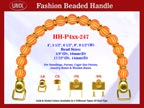 Designer Handbag Handles HH-P4xx-247 For Beaded Designer Handbags
