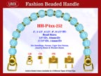 Designer Handbag Handle HH-P4xx-252 For Beaded Evening Handbag