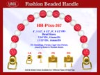 Designer Handbag Handles HH-P4xx-267 For Beaded Designer Handbags