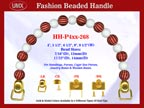 Designer Handbag Handle HH-P4xx-268 For Beaded Designer Handbag