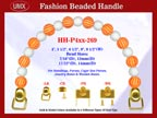 Designer Handbag Handle HH-P4xx-269 For Beaded Designer Handbags