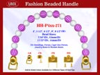 Designer Handbag Handles HH-P4xx-271 For Beaded Evening Handbags