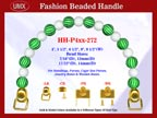 Designer Handbag Handle HH-P4xx-272 For Beaded Evening Handbag