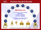 Designer Fabric Handbag Handles HH-P4xx-273 For Beaded Fabric Handbags