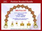 Designer Purse Hardware - Beaded Handbag Handles - HH-Pxx-286 with Antique or Bone Style Beads