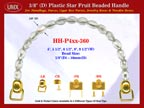 HH-P4xx-360 Cigar Handbag Purse Handle: Cigar Box Handbag Star Fruit Beads Purse Handle: Box Handbag Handles