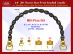 HH-P4xx-361 Cigar Handbag Purse Handle: Cigar Box Handbag Star Fruit Beads Purse Handle: Box Handbag Handles