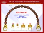 HH-P4xx-362 Cigar Handbag Purse Handle: Cigar Box Handbag Star Fruit Beads Purse Handle: Box Handbag Handles