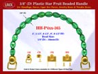 HH-P4xx-365: Cigar Box Handbag Purse Handle: Box Handbag Star Fruit Beads Purse Handle: Cigar Box Handbag Handles