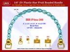 HH-P4xx-366: Cigar Box Handbag Purse Handle: Box Handbag Star Fruit Beads Purse Handle: Cigar Box Handbag Handles