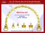HH-P4xx-367: Cigar Box Handbag Purse Handle: Box Handbag Star Fruit Beads Purse Handle: Cigar Box Handbag Handles