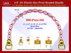 HH-P4xx-368: Cigar Box Handbag Purse Handle: Box Handbag Star Fruit Beads Purse Handle: Cigar Box Handbag Handles