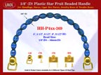 HH-P4xx-369: Cigar Box Handbag Purse Handle: Box Handbag Star Fruit Beads Purse Handle: Cigar Box Handbag Handles