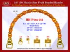 Make Cigar Box Handbags Handle: Make Cigar Handbags Star Fruit Beads Purse Handle: Make Box Handbags Handles - HH-Pxx-382