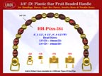 Make Cigar Box Handbags Handle: Make Cigar Handbags Star Fruit Beads Purse Handle: Make Box Handbags Handles - HH-Pxx-384