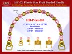 Make Cigar Box Handbags Handle: Make Cigar Handbags Star Fruit Beads Purse Handle: Make Box Handbags Handles - HH-Pxx-385