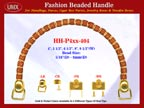 HH-Pxx-404 Beaded Handle with Flower Drum Cylinder Bone Beads For Designer Handbag Making