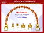 HH-Pxx-405 Beaded Handle with Flat Daisy Flower Bali Bone Beads For Designer Handbag Making