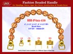 HH-Pxx-410 Beaded Handle with Walnut with Carved Star Bali Bone Beads For Designer Handbag Making
