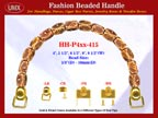 HH-Pxx-415 Beaded Handle with Faceted Nugget Tube Bali Bone Beads For Designer Handbag Making