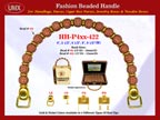 HH-Pxx-422 Beaded Handle with Sphere Pattern Beads and Metal Beads For Wholesale Handbag Making Supplies