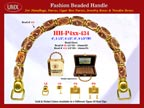Wholesale Handbags Handles HH-Pxx-434 With Bali Bead Patterns and Round Metal Beads