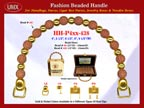 Wholesale Handbags Handles HH-Pxx-438 With Crafty Bali Beads and Artful Round Bali Beads