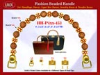 Wholesale Purses Handle: HH-Pxx-453 with Round Bali Beads and Flower Bali Beads