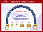 HH-P4xx-61 Stylish Beaded Handle For Handcrafted Wooden Jewelry Boxes, Cigar