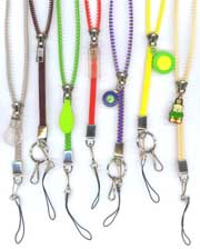 Eazy-Zip cell phone, name badge neck lanyards