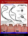 Sample Retractable Safety Lanyards, Retractable ID Lanyards Sample Application Instructions and Guides