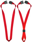 "5/8"" Plain Color Heavy Duty Polyester Neck Strap, Band And Ring Lanyards With 1 Safety Breakaway Buckle Features."
