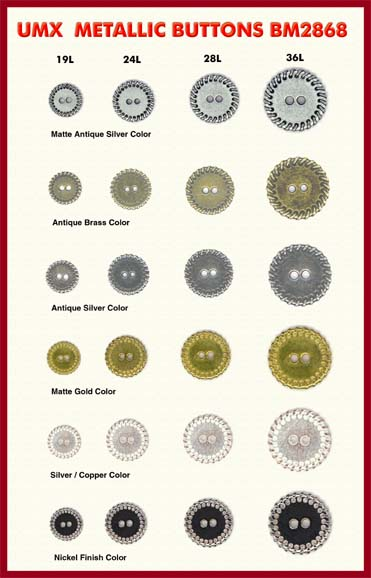 2-hole metallic buttons bm2868