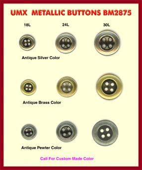 metallic buttons BM2875