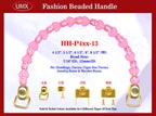 HH-P4xxG-13 Stylish Love Heart Purse Handle For Fashion Purses, Handbags, Wood