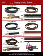 Leather straps for shoulder bags, purses or hand carry bags.